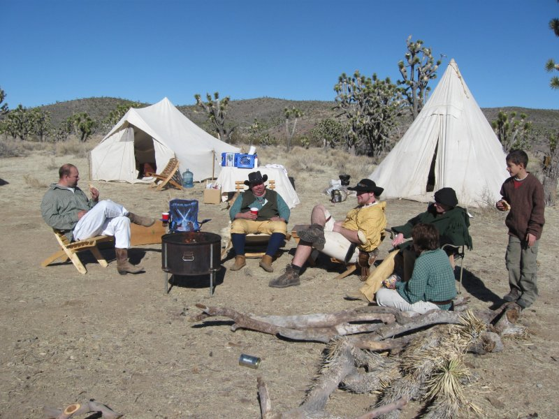 Hanging out in the primative camp setting
